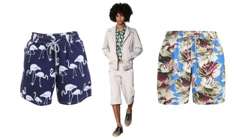 Swim Shorts, €170, Vilebrequin Moorea at Brown Thomas Soft cloth Bermuda Byron shorts, €97 (p&p inc), agnesb.com Vintage Leaves Volley Swim Short, €90, Hackett