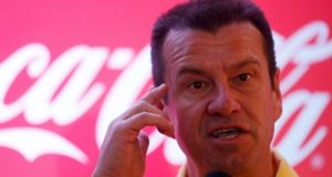 Former Brazil captain Dunga has denied  any involvement with businessman Lamine Fofana, who has been arrested by police in Brazil in connection with black market ticket sales at the World Cup. Photograph:  Pilar Olivares/Reuters