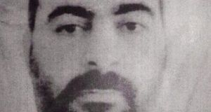 Self-elevated: Abu Bakr al-Baghdadi. Photograph: AP Photo/Iraqi InteriorMinistry