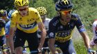 Last year's winner, Britain's Chris Froome (left), and Spain's Alberto Contador in action during the ninth stage – between Saint-Girons and Bagnères-de-Bigorre – of last year's Tour de France. The pair lock horns again in what promises to be one of the closest contests since Cadel Evans' victory in 2011. Photograph: Jeff Pachoud/Getty Images