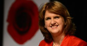 04/07/2014 NEWSTanaiste  Joan Burton, the new Leader of the Labour Party pictured  after her election in he Mansion Houseyesterday.Photograph: Cyril Byrne / THE IRISH TIMES