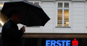Erste was the biggest loser among European bank stocks, tumbling more than 16 per cent. Photograph: Leonhard Foeger/Reuters