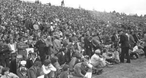 A section of the crowd at Cork versus Kerry in the 1976 Munster football final.