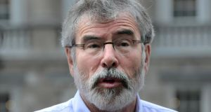 Sinn Féin president Gerry Adams said the British and Irish governments should intervene to stabilise the volatile political situation. Photograph: Cyril Byrne