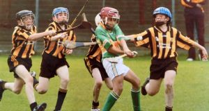 Leonardo Gomes playing for Gort against Killimor in the Galway under-12B county final.
