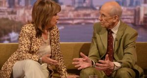 Labour peer Baroness Helena Kennedy and the former Conservative cabinet minister Lord Tebbit appearing on the BBC One current affairs programme, The Andrew Marr Show. Photograph: Jeff Overs/BBC/PA Wire