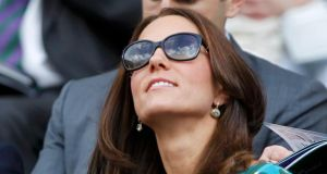 "Kate Middleton at Wimbledon's Centre Court yesterday. Novelist Hilary Mantel's sympathetic 2013 critique of Middleton's press-cultivated ""shop-window mannequin"" persona was wilfully misinterpreted in the press. Photograph: Reuters/Sang Tan"
