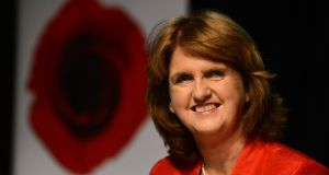 Tánaiste Joan Burton: forearmed with the knowledge that her elevation would be a formality, both sides have been working on their strategies. Photograph: Cyril Byrne