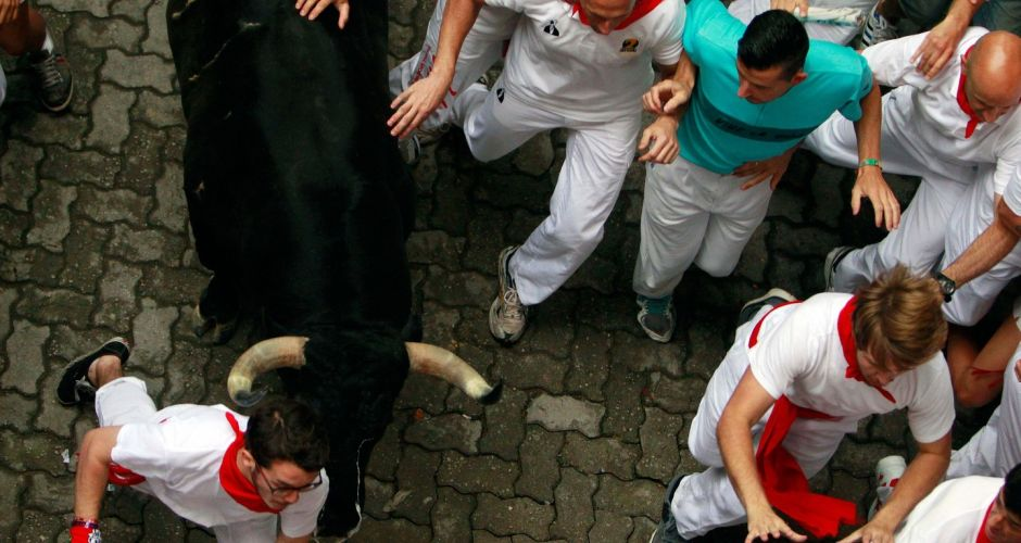 Pamplona's running of the bulls