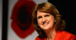 "Tánaiste Joan Burton: ""I think we both want the Government to continue its mandate"". Photograph: Cyril Byrne/The Irish Times."