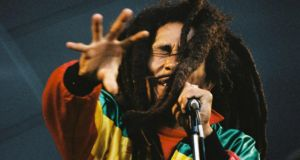 Live wire: Bob Marley onstage in London in 1980