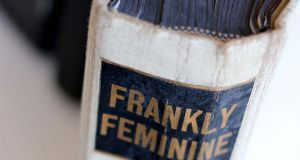 The spine of 1965 book Frankly Feminine. Photograph: Nick Bradshaw