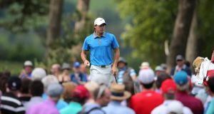 Rory McIlroy in action at the  2014 Irish Open at Fota Island Resort, Cork, where he missed the cut. Photograph: Inpho
