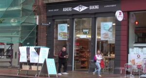A screen grab the Ashers outlet in Belfast.  Photograph: YouTube/Christian Institute