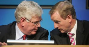 Eamon Gilmore, former tánaiste (left)  and Taoiseach Enda Kenny. File photograph: Alan Betson/THE IRISH TIMES