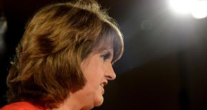 Tánaiste Joan Burton pictured during her first press conference as leader of the party last week. Photograph: Cyril Byrne / THE IRISH TIMES