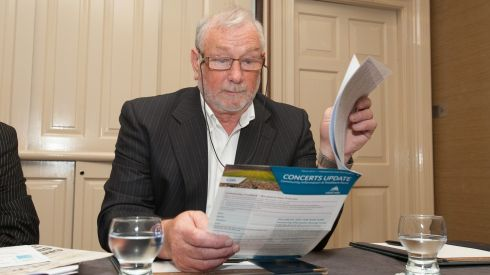 Fintan Farrelly, committee member, during a press conference by the Croke Park Streets Committees Association Ltd and Croke Park Community and Handball Centre against the  consecutive Garth Brooks shows. Photogragh: Gareth Chaney/Collins