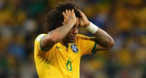 Brazil defender Marcelo during the defeat to Germany  at Estadio Mineirao  in Belo Horizonte. Photograph:  Martin Rose/Getty Images