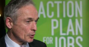 Richard Bruton, Minister for Jobs, announcing the Workplace Relations Bill. Photograph: Gareth Chaney Collins