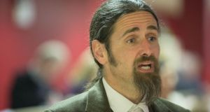 Independent MEP Luke Ming Flanagan urged incoming European Commission president Jean-Claude Juncker  to honour his commitment to  Ireland regarding bank debt. Photograph: Keith Heneghan