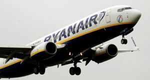 In Dublin, Ryanair was up 1.03 per cent to €6.80 in a busy day's trading in aviation stocks across Europe and in the United States. Photograph: Rui Vieira/PA Wire