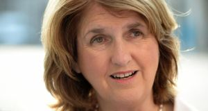 "Tánaiste Joan Burton: ""It's often missed that the greatest proportion of our spending is on pensions and related supports for older people.""  Photograph: Frank Miller"