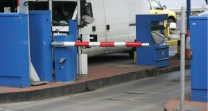 You shall not pass: why is it so difficult to use mainstream debit cards at toll barriers? Photograph: Dara Mac Dónaill