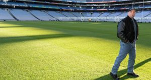Exit stage left: Garth Brooks in Croke Park in January. Photograph: Dara Mac Dónaill