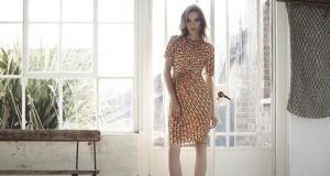 Polyester and elastene wrap dress, €90, Ingenue London, ingenuelondon.com