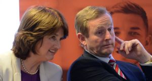 Taoiseach Enda Kenny and Tánaiste Joan Burton: much of the six hours on Monday was taken up with general discussions, a form of familiarisation for both leaders