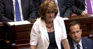 Joan Burton takes her first Opposition Leaders' Questions as Tánaiste