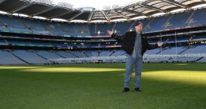 "Garth Brooks in Croke Park in January. Yesterday he referred to matinees as ""half-assed"". Photograph: Dara Mac Dónaill."