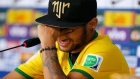 An emotional Neymar, the Brazil forward who fractured a vertebra during his side's World Cup match with Columbia has spoken of his narrow escape from serious injury. Video: Reuters