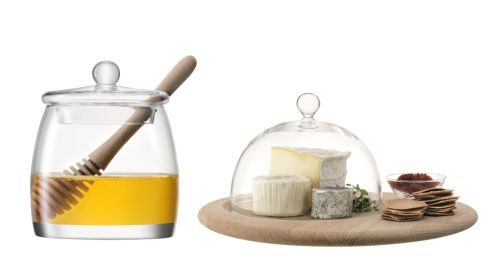 Honey pot, €43.99, LSA International at The Elms Cheese server, €125, LSA International at The Elms