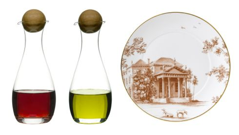 Oval oak oil and vinegar, €30, designist Palladian plate, €40, Brown Thomas