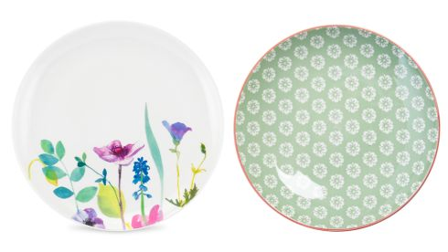 Watergarden plate, €13.95, Portmeirion at Kilkenny Shop Green and orange bowl, 5.95, Meadows and Byrne