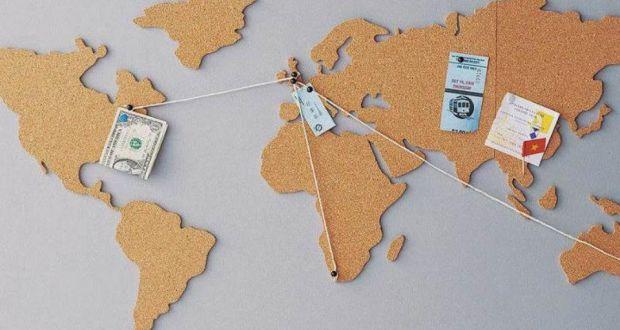 Travel gear corkboard world map data diving mask bluetooth watch corkboard world map gumiabroncs Choice Image