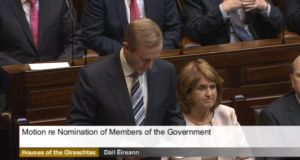 Taoiseach Enda Kenny unveils his new Cabinet in the Dáil this afternoon.