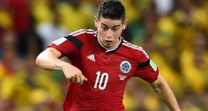 James Rodriguez of Colombia:  the 22-year-old has a bright and rewarding future ahead of him if this tournament is anything to go by. Photograph:  Laurence Griffiths/Getty Images