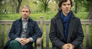 Martin Freeman and Benedict Cumberbatch as Watson and Holmes: sharing a flat but not a bed