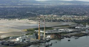 Twin peaks: Poolbeg, photographed from the air. Photograph: Frank Miller/The Irish Times