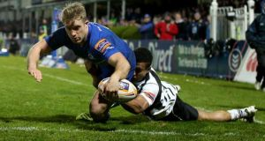 Leinster's Luke Fitzgerald against Zebre.  Photograph: James Crombie/Inpho
