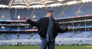 Tánaiste Joan Burton has said there is a 'window of possibility' in reaching an agreement over the staging of the Garth Brooks concerts at the end of the month. Brooks last performed in Croke Park in 1997.Photograph: Dara Mac Dónaill/The Irish Times