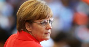 German chancellor Angela Merkel at the World Cup final between Germany and Argentina at Maracana  in Rio de Janeiro yesterday. Photograph: Robert Cianflone/Getty Images