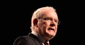 "Sinn Féin's Martin McGuinness: at the weekend he tweeted, ""Pleased today's Orange O parades passed peacefully. Parades Commission determination & those who mainly abided by it delivered."" Photograph: Dara Mac Dónaill"