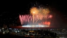 The Maracana stadium lights up with spectaculr fireworks as Germany lift the World Cup trophy after beating Argentina 1-0 after extra time. Video; Reuters