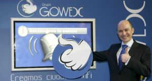President of Spanish wifi company Gowex, Jenaro Garcia, who announced on Twitter last week that the company's accounts had been falsified for more than four years. Photograph: Angel Diaz/EPA