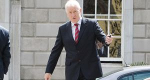 Jimmy Deenihan at  Leinster House last week. Mr Deenihan has already taken up the position of Minister of State at the Department of the Taoiseach and the Department of Foreign Affairs with special responsibility for the Irish abroad. Photograph: Alan Betson/The Irish Times