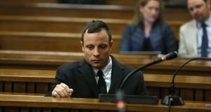 Oscar Pistorius during his murder trial at the Pretoria High Court on July 8th, 2014, in Pretoria, South Africa. Photograph: Alon Skuy/The Times/Gallo Images/Getty Images