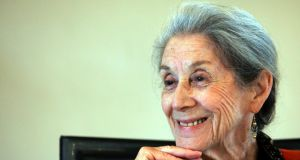 Nobel Prize for literature winner Nadine Gordimer photographed in February  2005. Photograph: Radu Sigheti/Reuters
